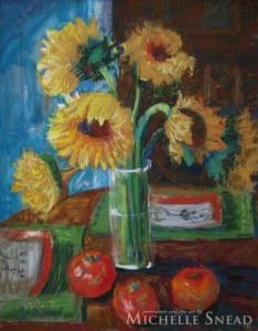 Tabletop Sunflowers